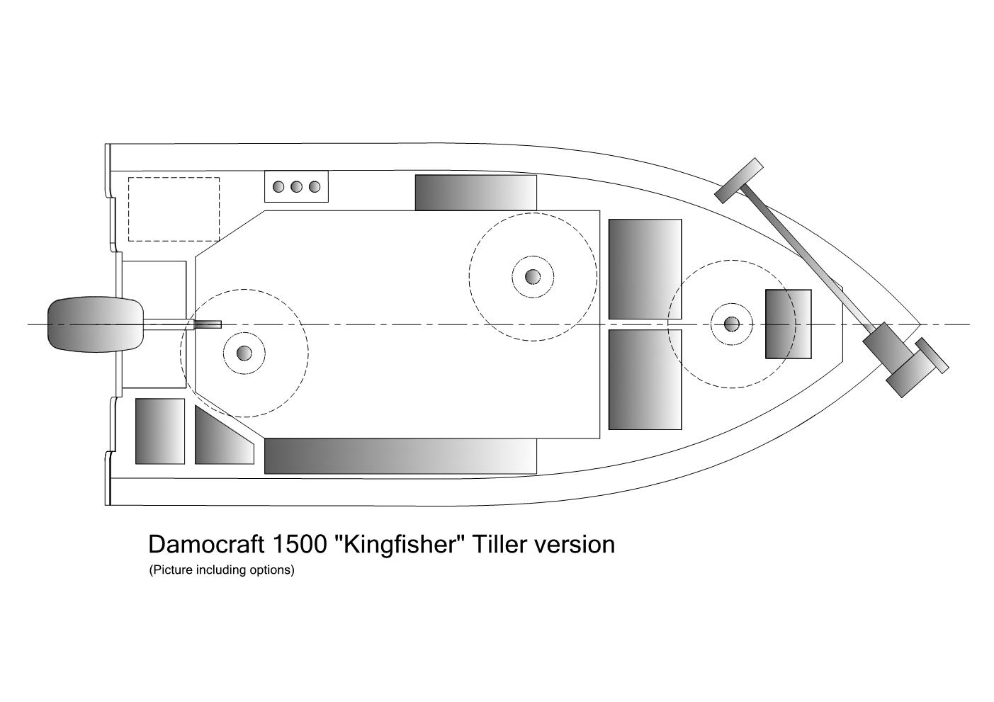 Damocraft 1500 Kingfisher Tiller version