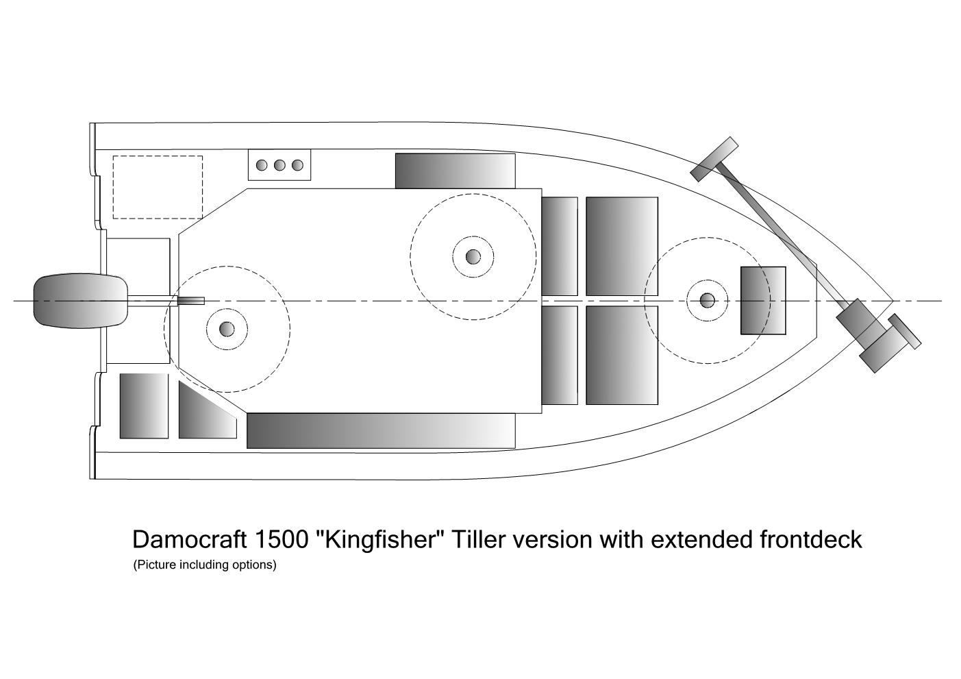 Damocraft 1500 Kingfisher with extended frontdeck