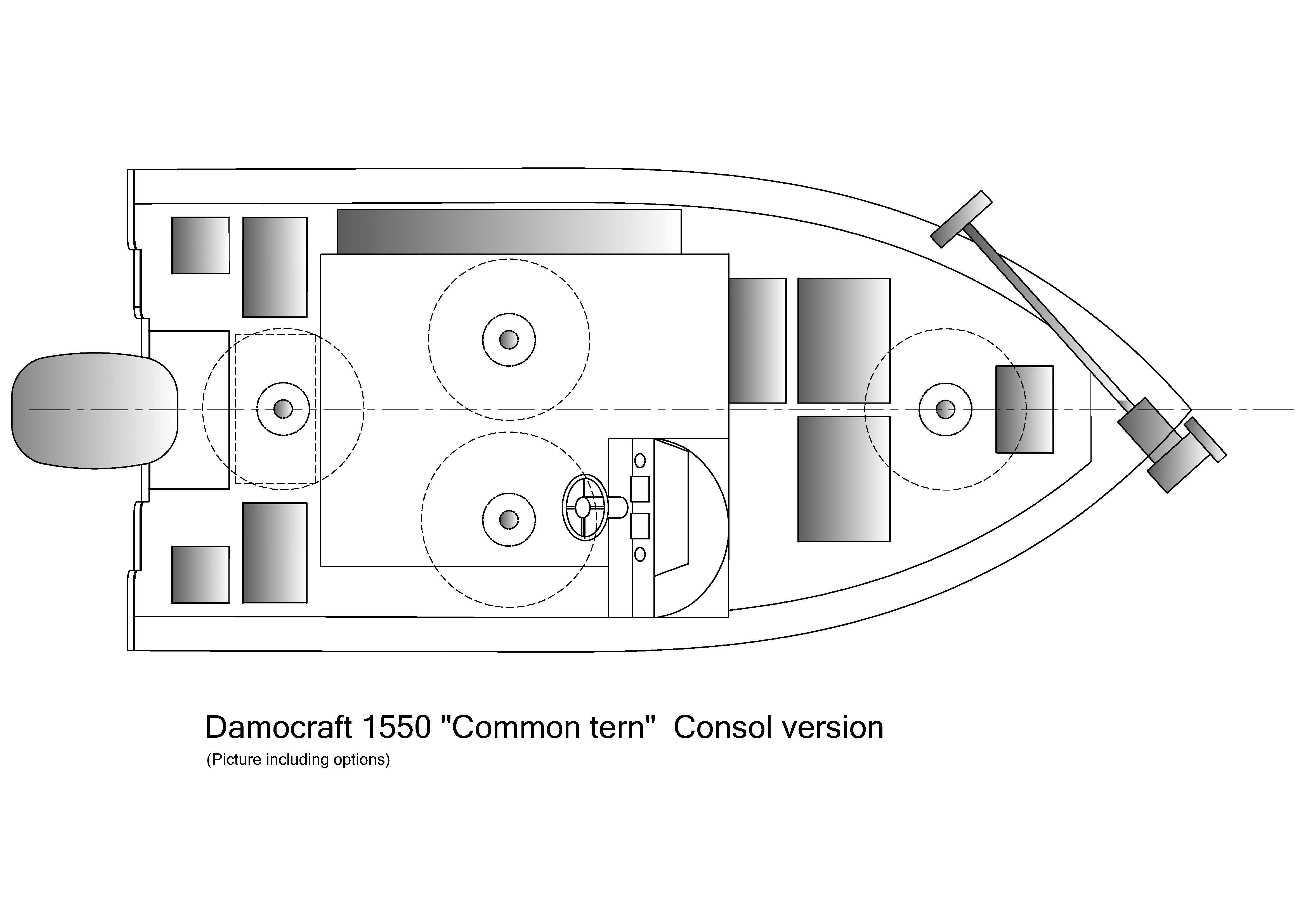 Damocraft 1550 Common tern Consol version