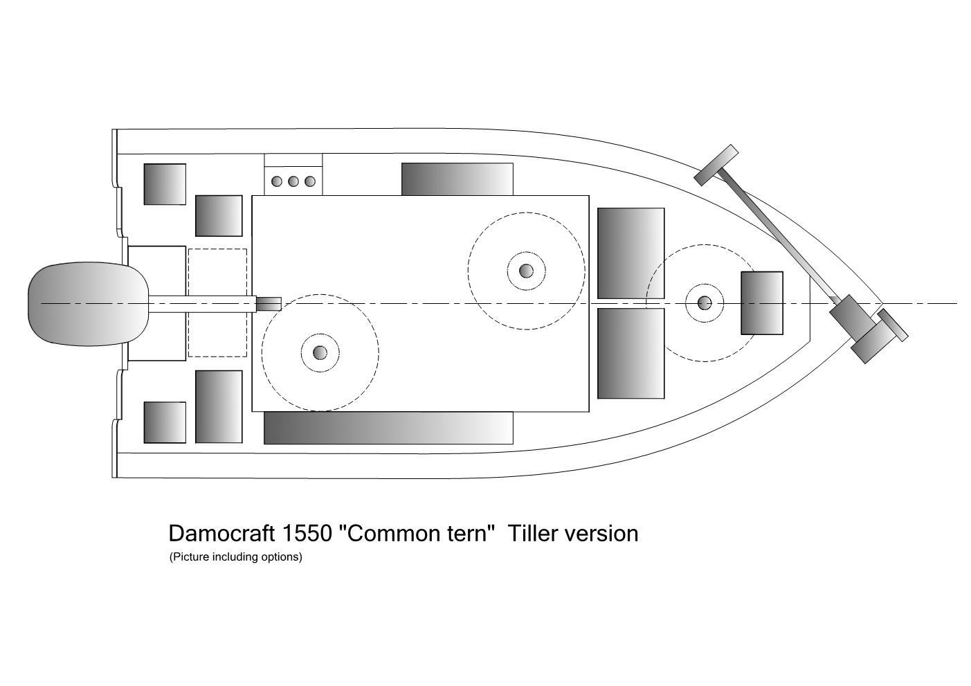Damocraft 1550 Common tern Tiller version