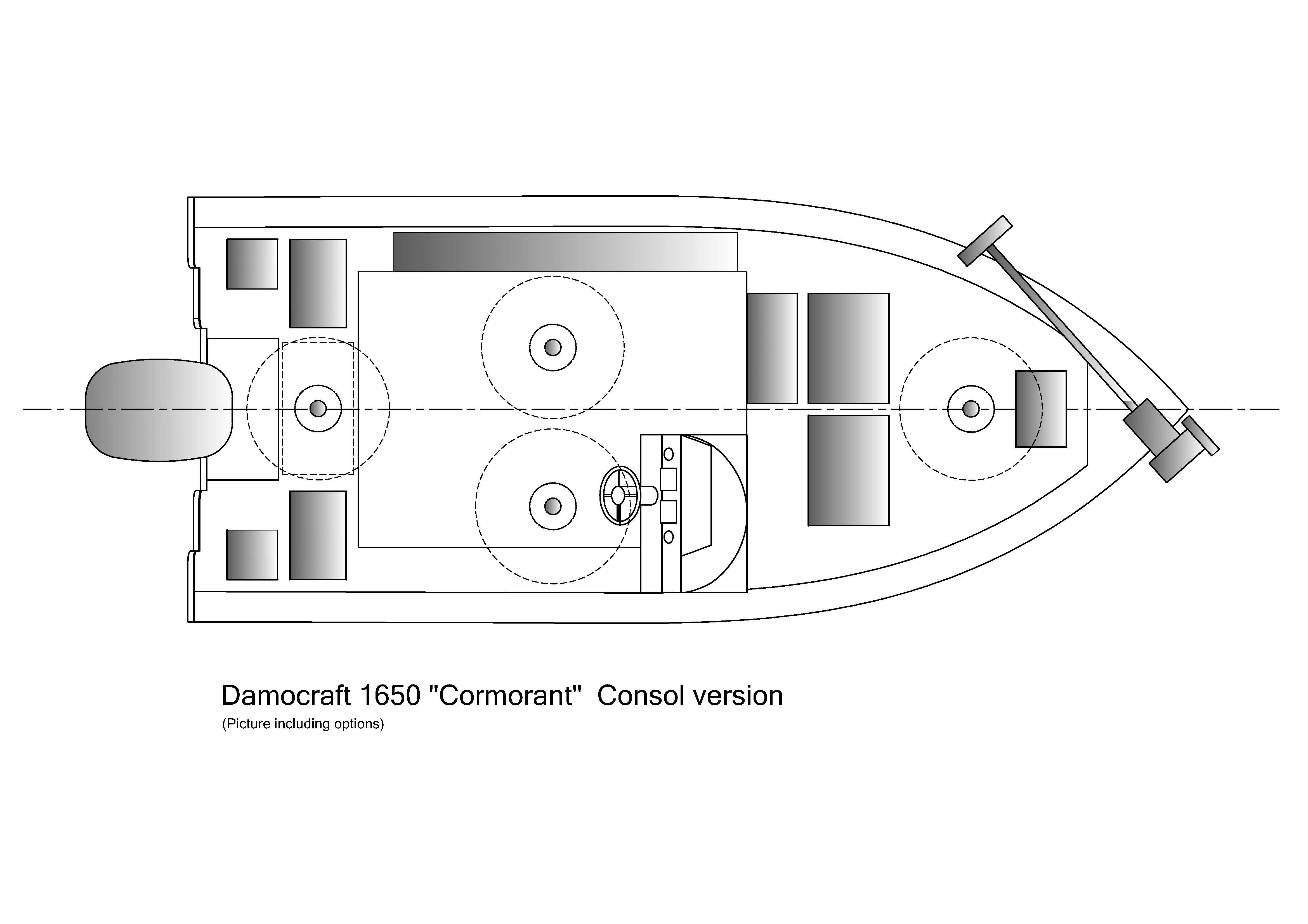 Damocraft 1650 Cormorant Consol version