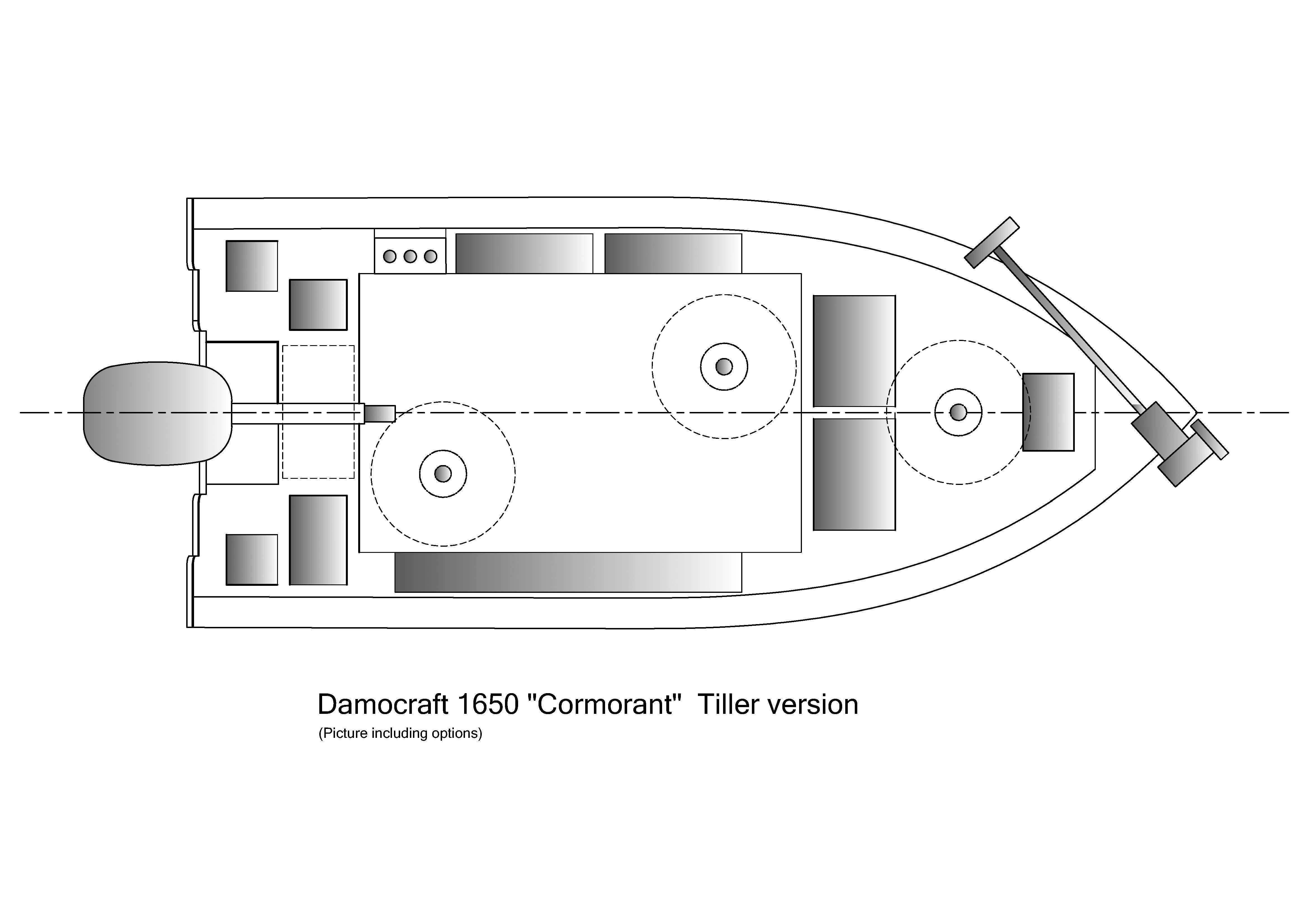 Damocraft 1650 Cormorant Tiller version