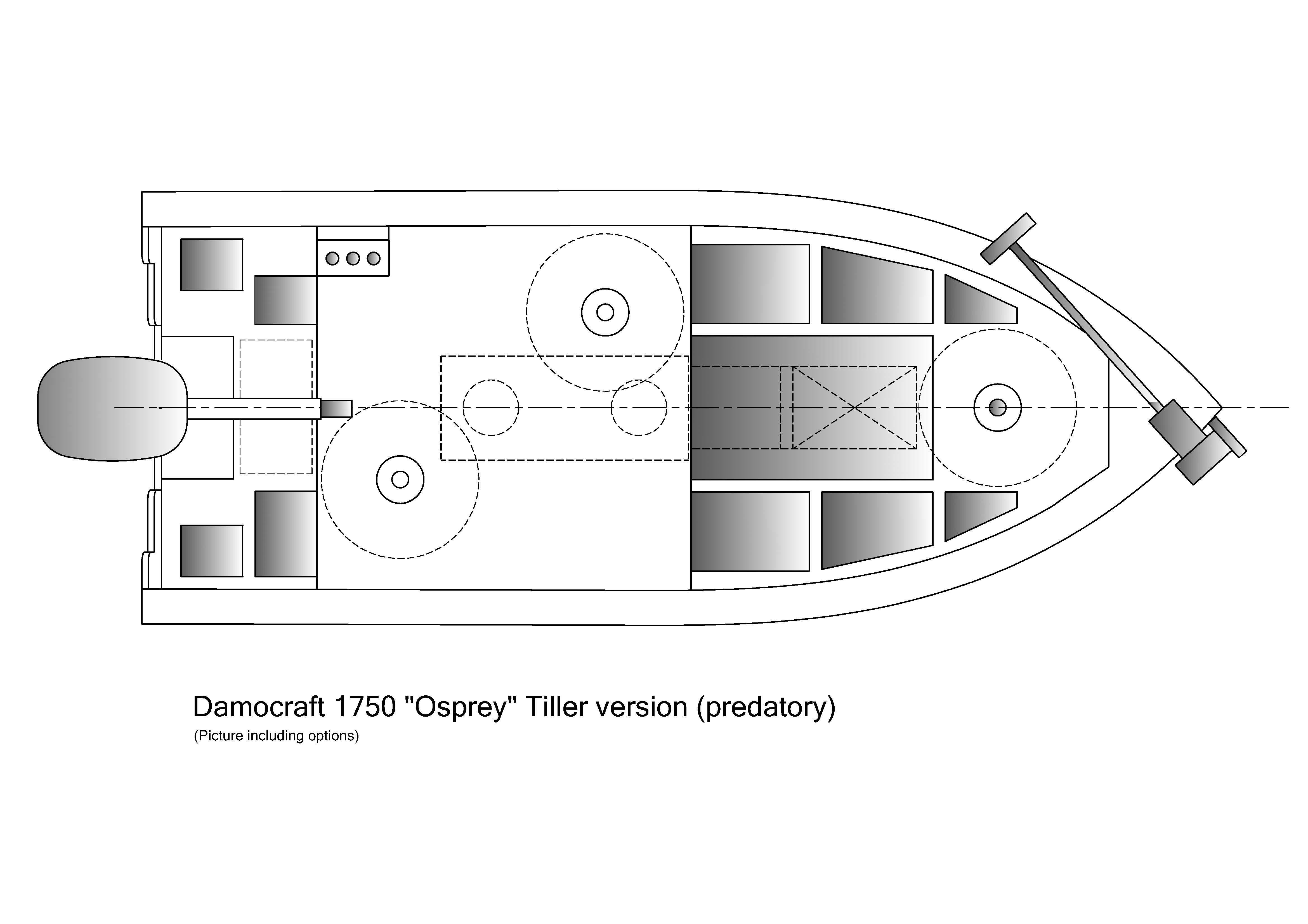 Damocraft 1750 Osprey Tiller version (predatory)
