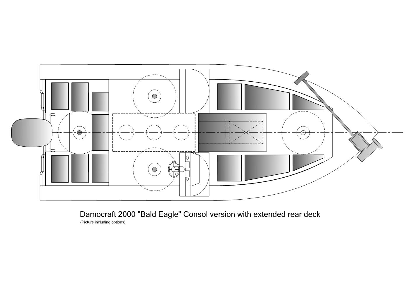 Damocraft 2000 Bald Eagle Consol version with extended reardeck