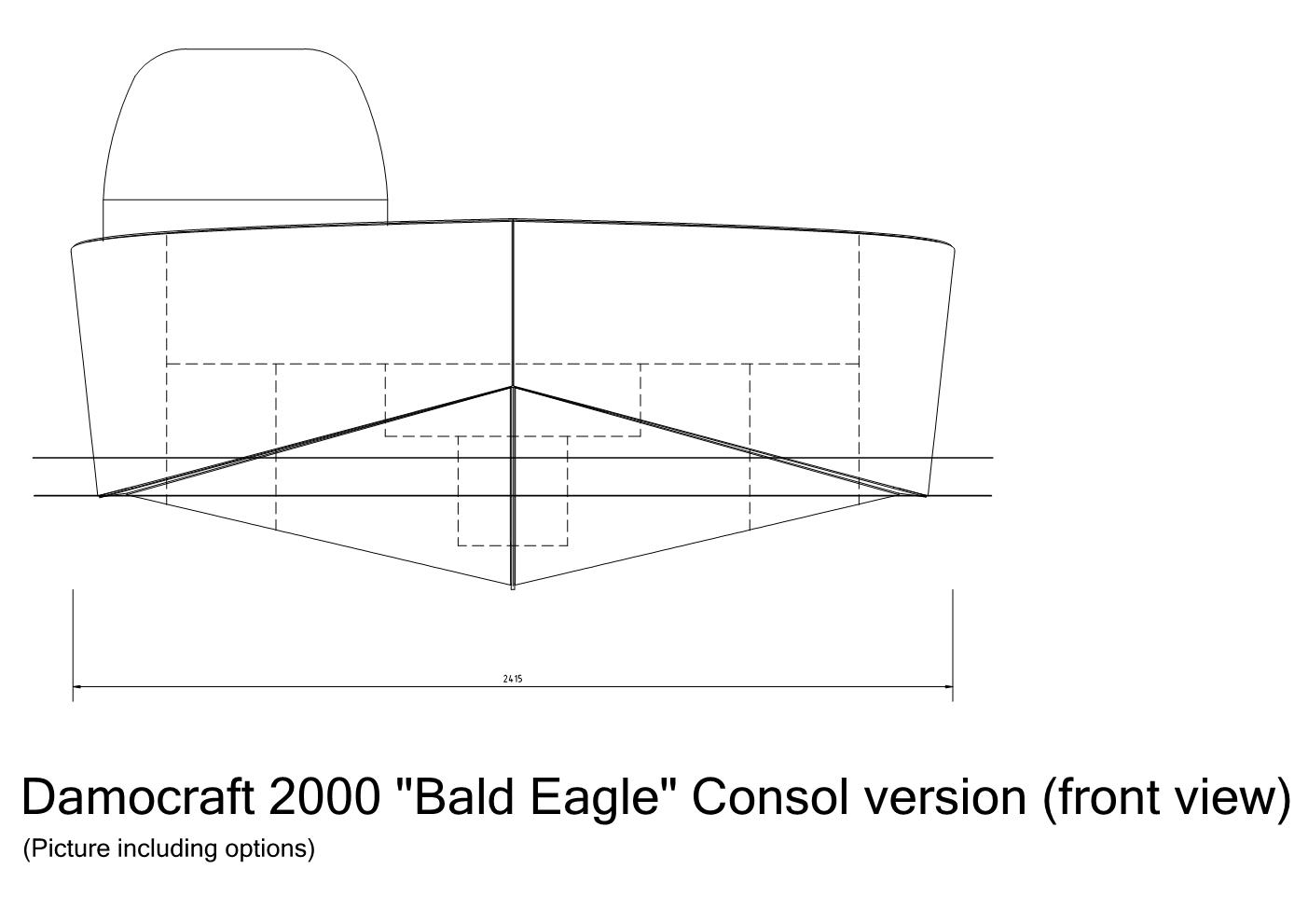 Damocraft 2000 Bald Eagle consol version frontview